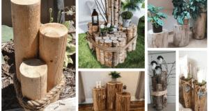 20+ krásných inspirací jak využít kmen stromu