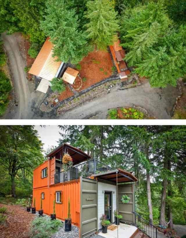 Dům postavený z kontejnerů