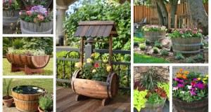 Překrásné nápady na využití dřevěných sudů, korýtek a kádí