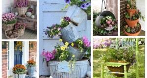 40+ inspirací na netradiční květináče na Vaší zahradu nebo dvůr
