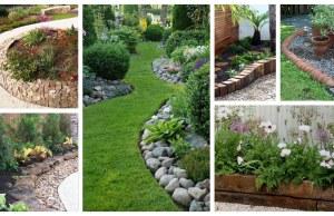 Inspirace, jak oddělit trávník od záhonu