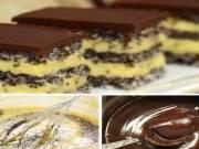 Fantastický dezert s vanilkovým krémem a mákem!