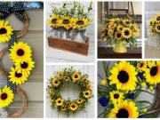 20+ krásných slunečnicových dekorací