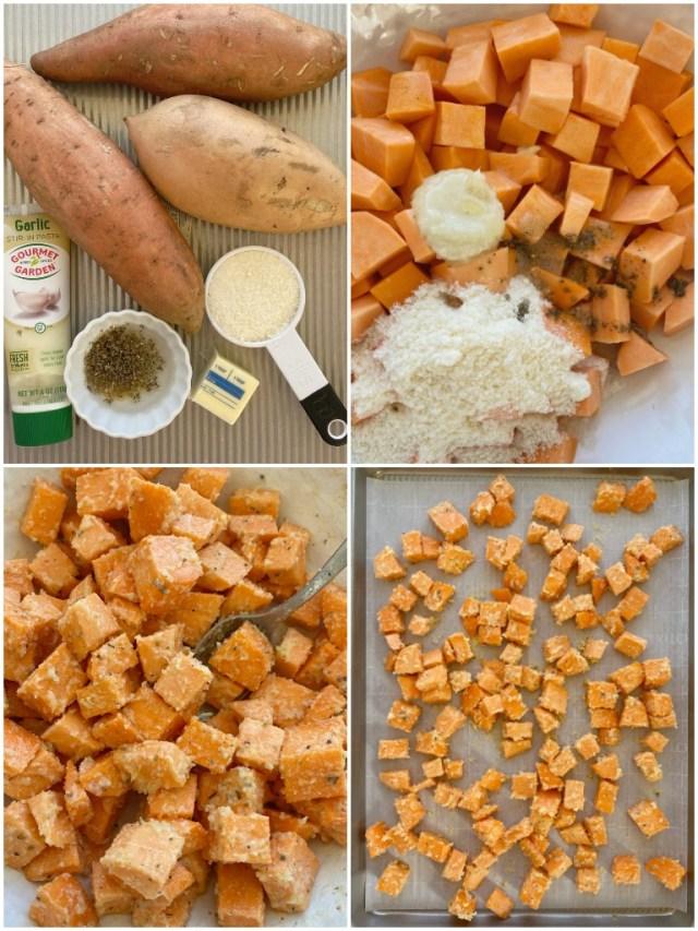 Recept na pečené batáty sparmezánem a kořením