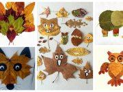 Tvoření pro děti: Využijte popadané podzimní listí k vytvoření krásných zvířátek