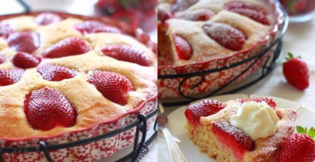 Fantastický jahodový koláč se smetanou - Prima inspirace