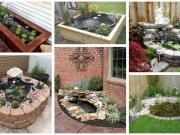 Inspirace na zahradní jezírka ze dřeva a kamení