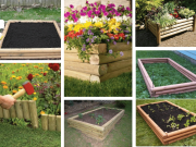 Originální květináče a záhony: 20+ nápadů na využití dřevěné, kulaté latě!