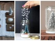 vytvořte si krásné vánoční sněžítko ze zavařovací sklenice – 20+ inspirací