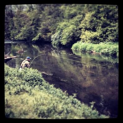 Ralf on a German Spring Creek