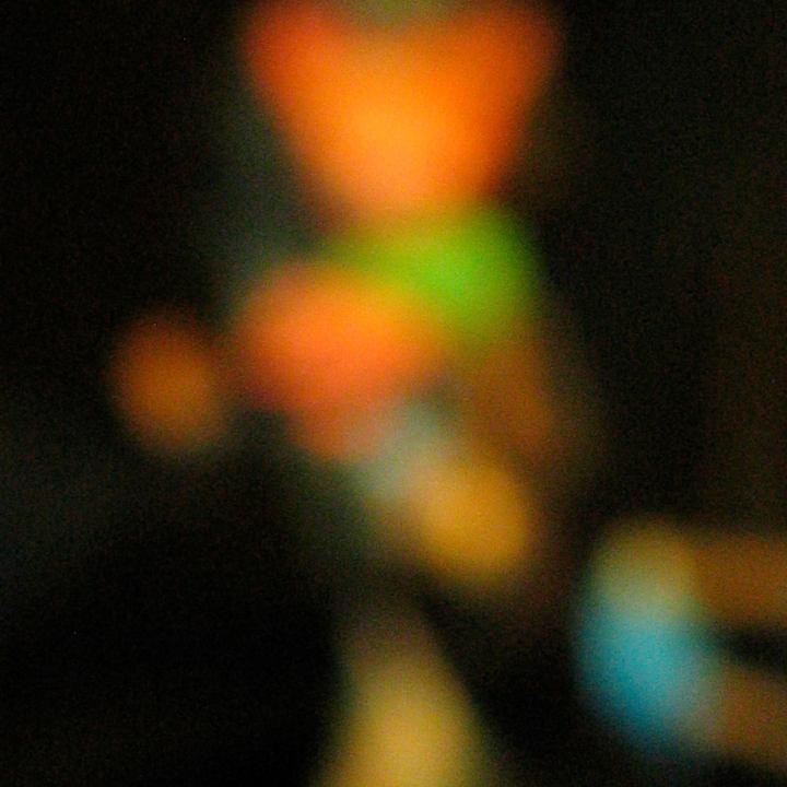 Unusual splash of blurry geometric color shapes