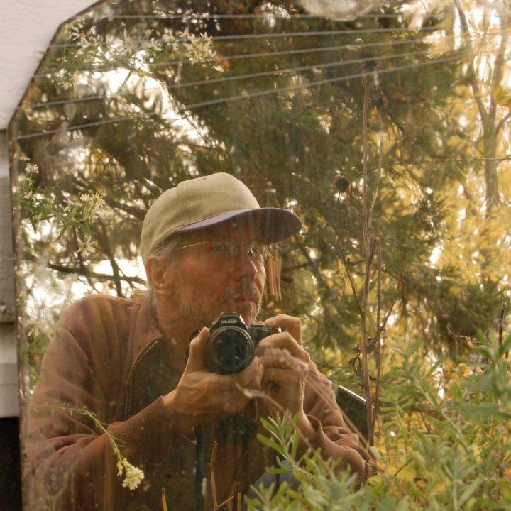 Vintage Mirror Outdoor Selfie