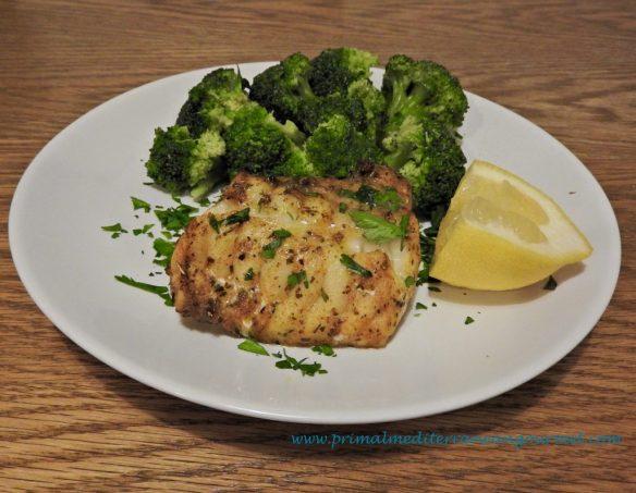 Baked Monk Fish Fillet, Primal Mediterranean Gourmet