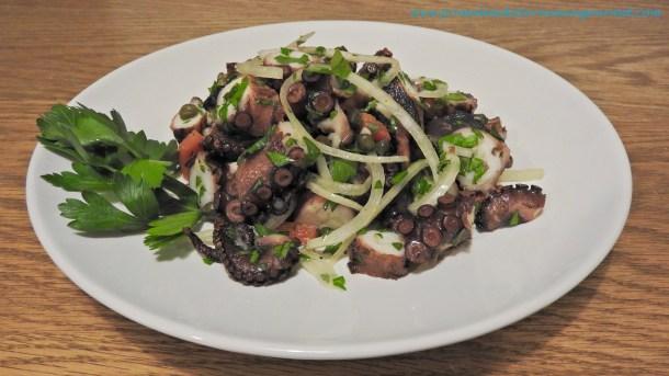 Grilled Octopus Salad - Primal Mediterranean Gourmet