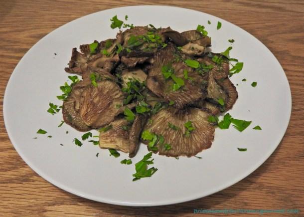 Grilled Oyster Mushrooms - Primal Mediterranean Gourmet