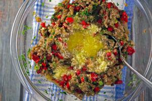 Greek Roasted Eggplant Dip - Melitzanosalata preparation