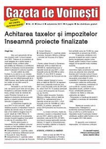 Gazeta de Voinesti nr. 31