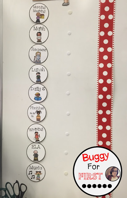 objectives, goals, standards, common core, focus wall, polka dot classroom, buggyforfirst, polka dots, ladybug classroom, first grade, classroom decor, classroom reveal, word wall, portable word wall, interactive word wall