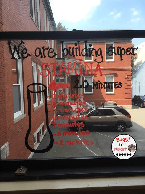 windows, anchor chart, polka dot classroom, buggyforfirst, polka dots, ladybug classroom, first grade, classroom decor, classroom reveal