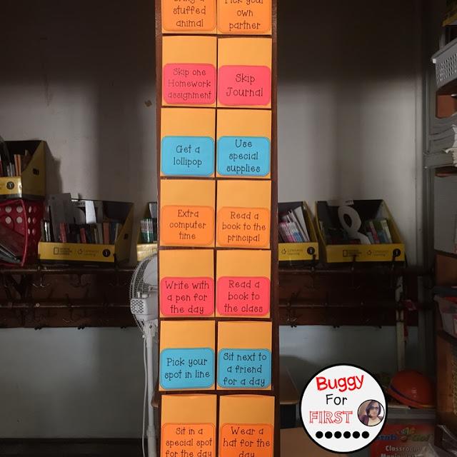 objectives, goals, standards, common core, focus wall, polka dot classroom, buggyforfirst, polka dots, ladybug classroom, first grade, classroom decor, classroom reveal, reward coupons