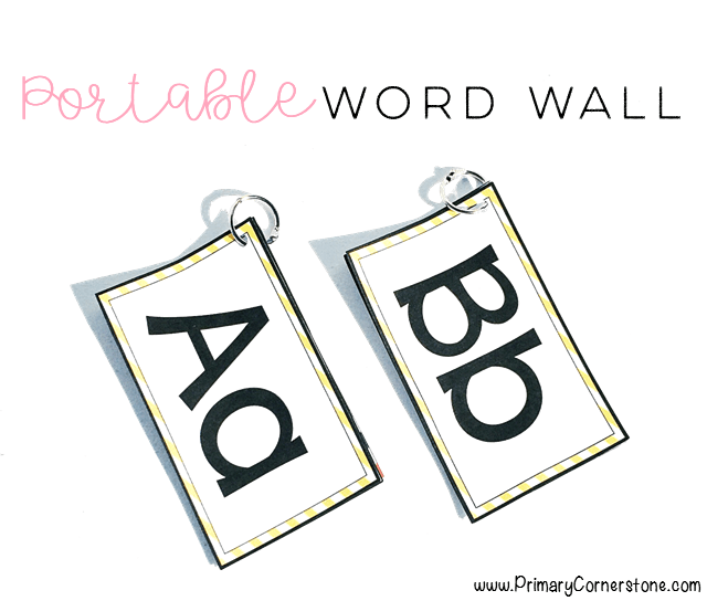 Portable word walls offer the flexibility of space and engagement all in one!