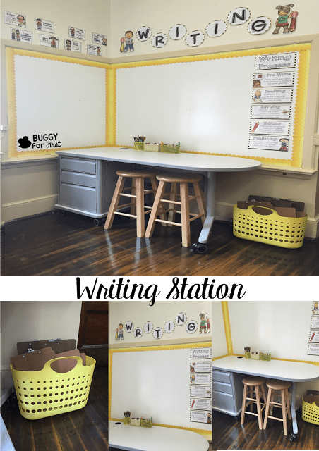 This writing station looks like a dream! My students would love sitting there and writing all of their thoughts. Narratives never looked so good.