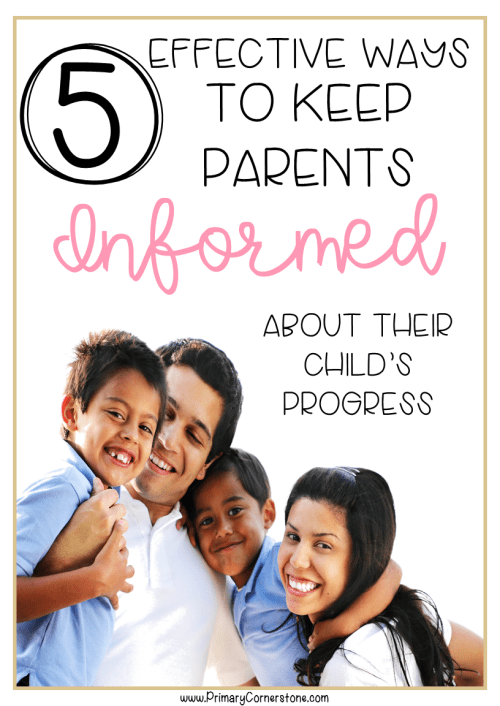 These 5 ideas will help teachers communicate daily with parents with forms that also highlight positive student behavior #parentteacherconference #parentcommunication