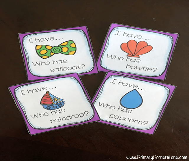 What fun way to learn compound words! I Have Who Has is one of my favorite activities to do with my students.
