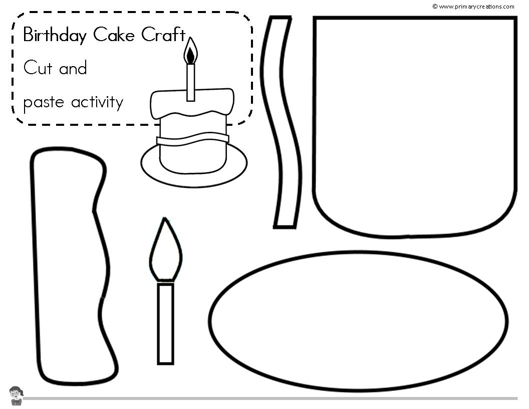 Birthday Cake Craft Idea