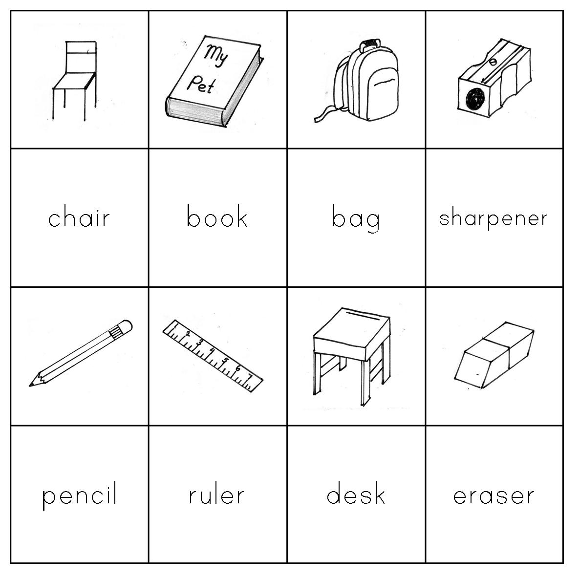 Kids English Classroom Things