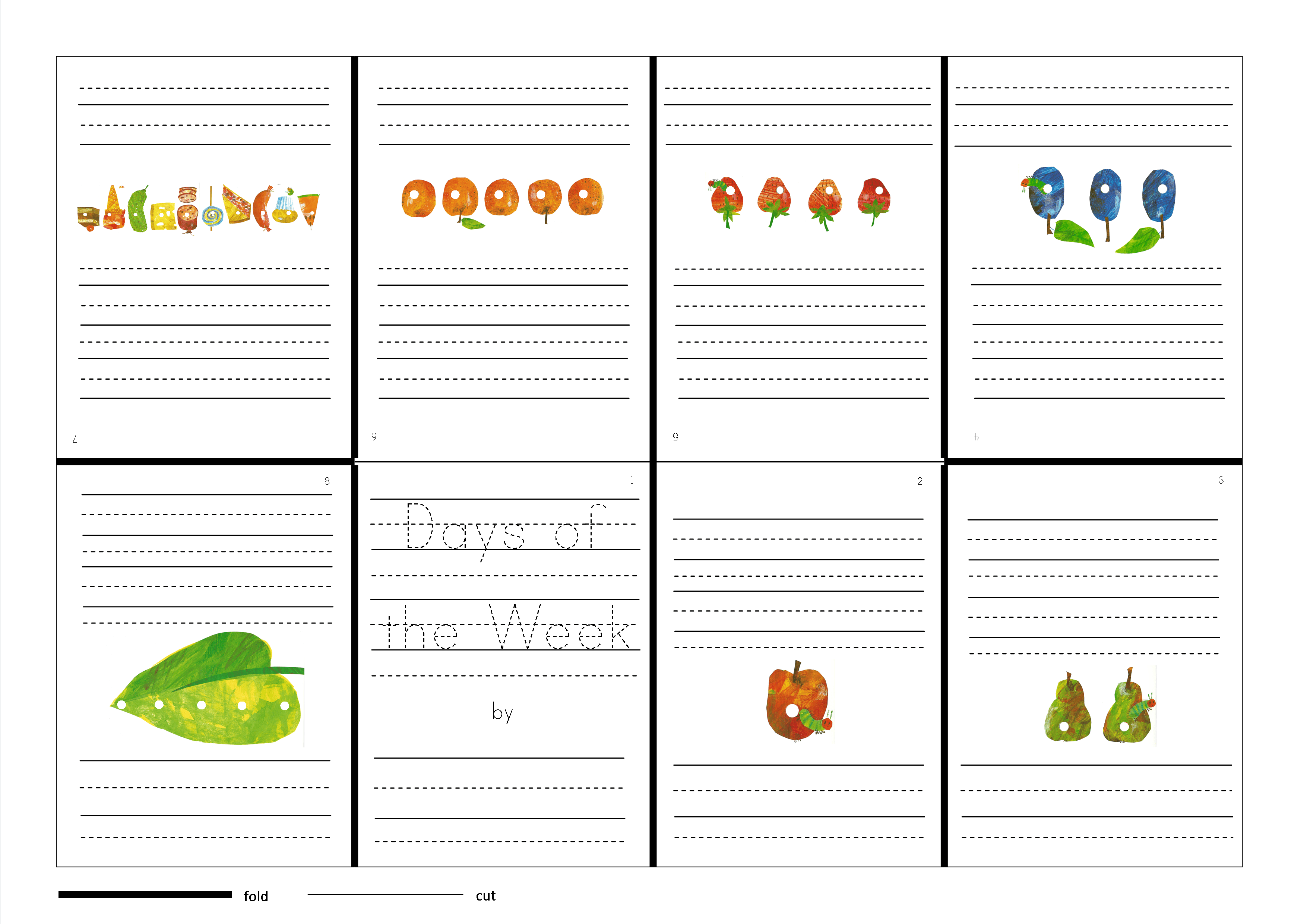 The Very Hungry Caterpillar Starts To Write