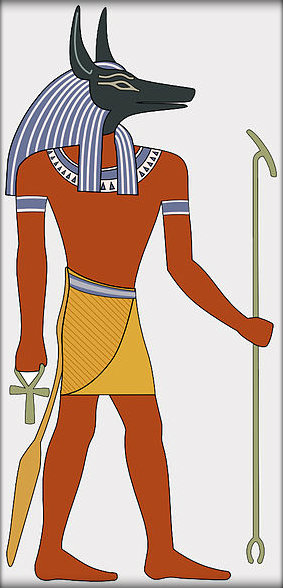 Image result for Egyptian Gods and Goddesses - Anubis