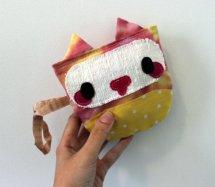 Cute Kitty Cat Handbag Velcro Clutch