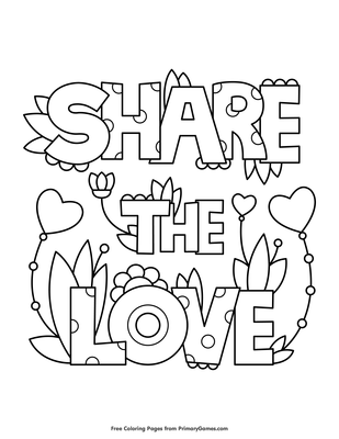 Love Coloring Pages : coloring, pages, Share, Coloring, Printable, PrimaryGames
