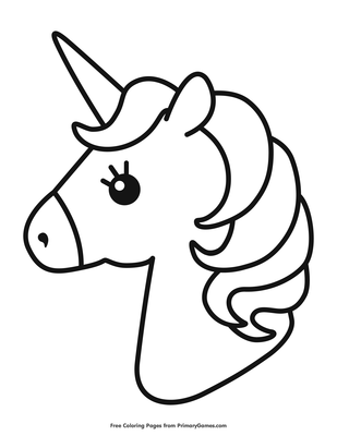 Unicorn Cute Coloring Pages : unicorn, coloring, pages, Unicorn, Coloring, Printable, PrimaryGames