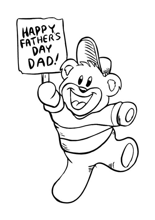 father s day colouring page 1 printable colouring picture