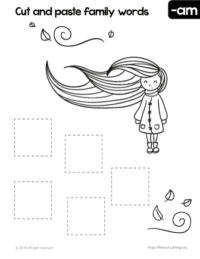 Free AM Word Family Worksheets & Printables