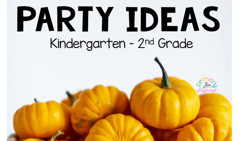 Fall Class Party Ideas Kindergarten – 2nd Grade