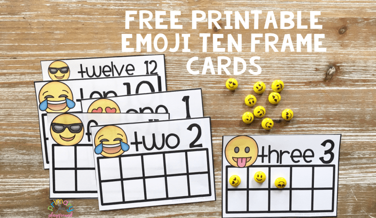 Free Printable Emoji Ten Frame Cards