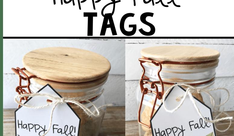 Free Printable Happy Fall Tags