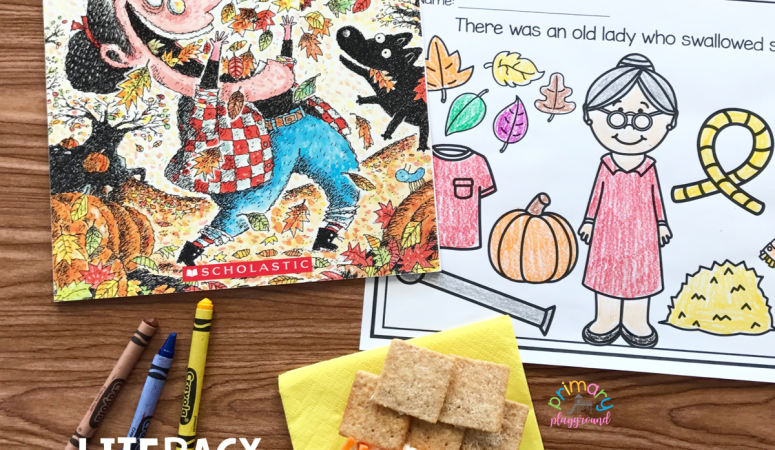 Literacy Snack Idea Fall Leaves