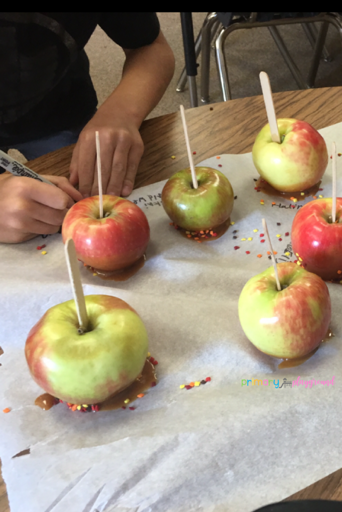 Caramel apples in the classroom