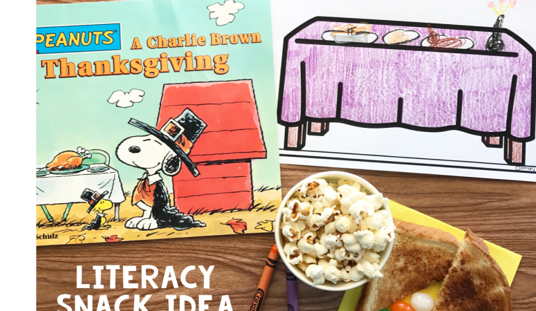 Literacy Snack Idea Thanksgiving + Free Printable