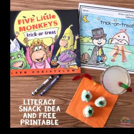 Literacy Snack Idea Trick Or Treat + Free Printable