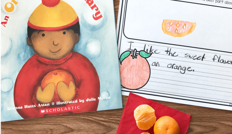 Literacy Snack Idea Oranges + Free Printable