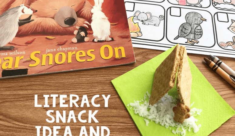 Literacy Snack Idea Hibernate + Free Printable