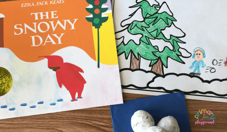 Literacy Snack Idea Snowy + Free Printable