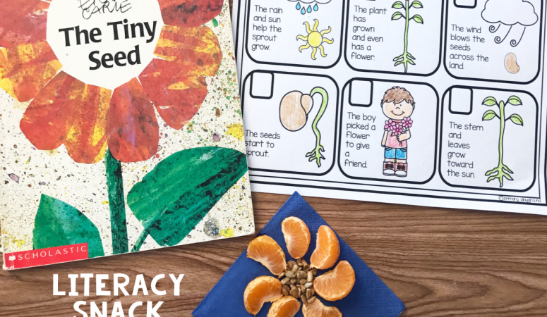 Literacy Snack Idea Flowers + Free Printable