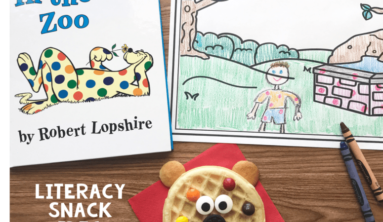 Literacy Snack idea Spots + Free Printable