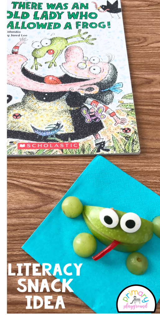 Literacy Snack Idea Frogs + Free Printable